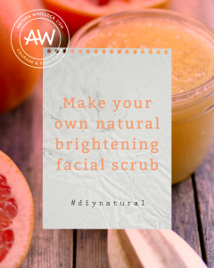 Make your own natural facial scrub